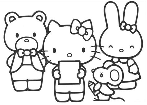 hello kitty coloring pages coloringpages1001 com