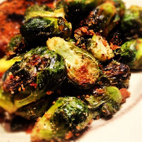 parmesan roasted caramelized brussels sprouts