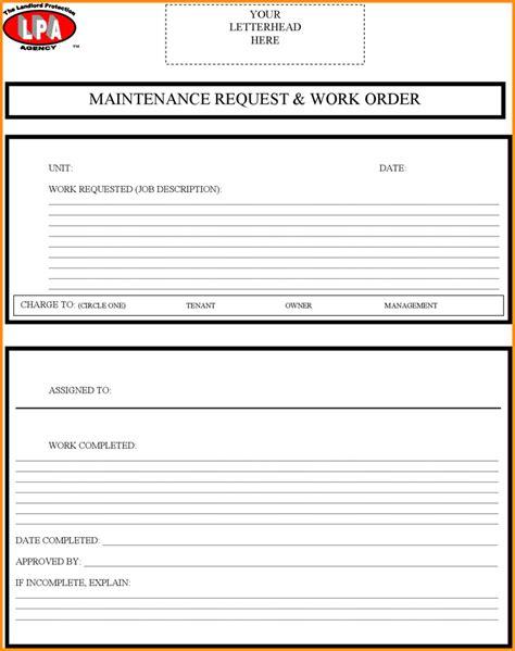 maintenance work order template 7 maintenance work order template mac resume template