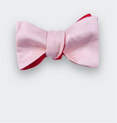 light pink bow tie light pink bow tie silk cinabre paris