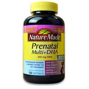 Vitamin Ibu Prenatal Nature Made Multi Dha 150 Softgels nature made prenatal multi dha 200mg 150 liquid softgels