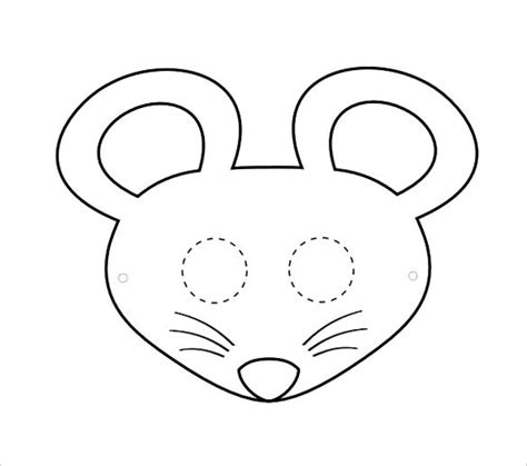 mouse mask printable printable minnie mouse template mouse