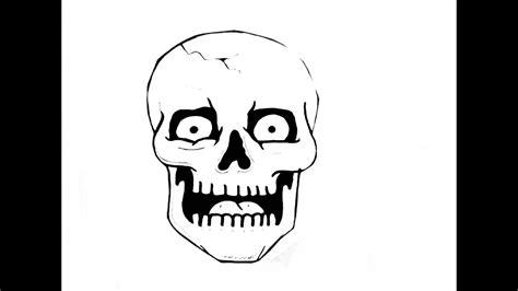doodskop tekenen how to draw a skull youtube