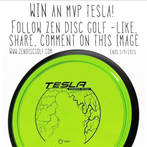 Tesla Giveaway - expired zen disc golf tesla giveaway disc golf deals giveaways and limited