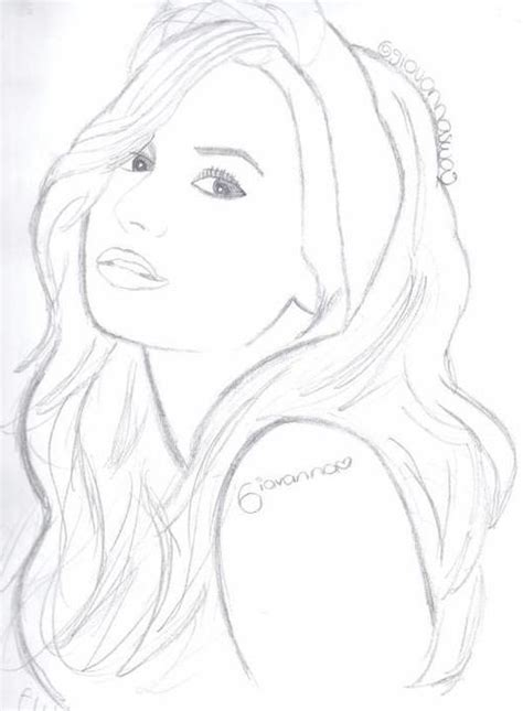 demi lovato free colouring pages