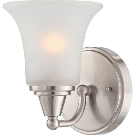 Satco Light Fixtures Satco Nuvo Lighting 60 4141 1 Light Vanity Light Fixture In Brushed Nickel At Sutherlands