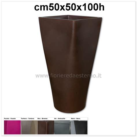 vasi da fiori in plastica vasi in plastica auriga alto tondo 83518691 in polietilene