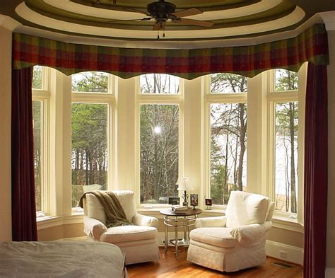 Drapery Designs For Bay Windows Ideas Bay Window Curtains