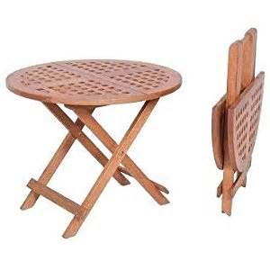 Small Wood Folding Table Outdoor Living Florence Keruing Wood Folding Table Small Set Of 2