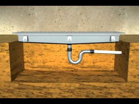 trench drain installation   YouTube