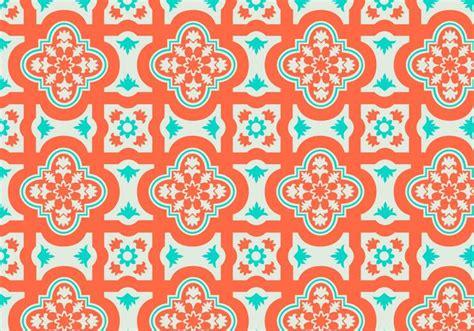 orange pattern vector orange and teal moroccan pattern background vector