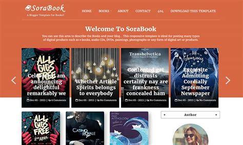 templates blogspot books sora book blogger template