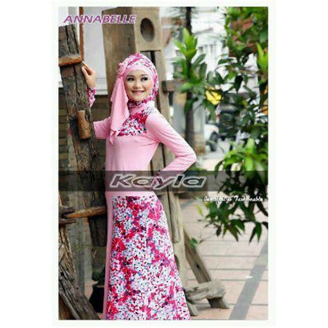Only Gamis Dress Motif Bulu Angsa anabelle pink baju muslim gamis modern