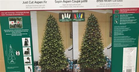 ge 9ft pre lit led just cut aspen fir artificial christmas