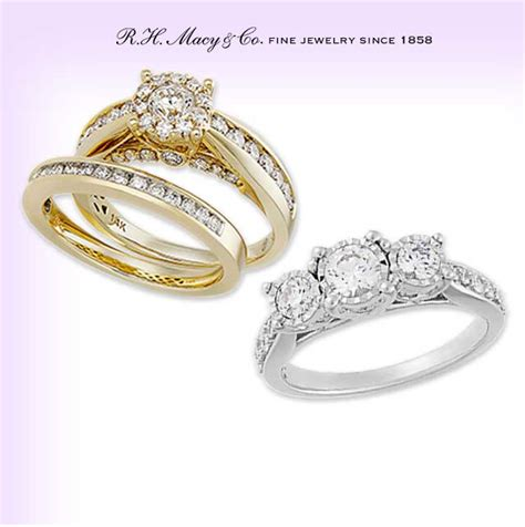 engagement ring settings styles macy s