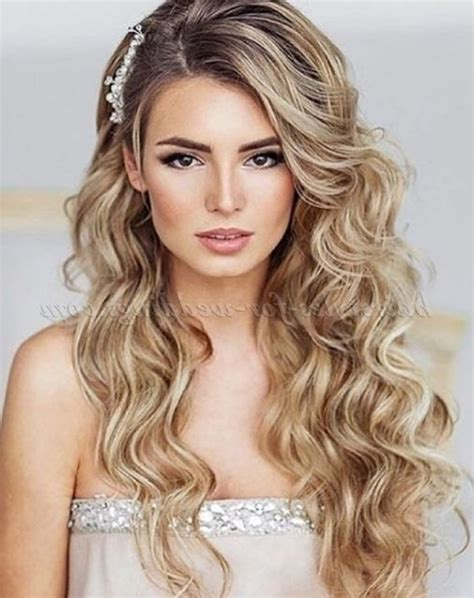 wedding hairstyles down pinterest wedding hairstyles for long hair down with flowers for