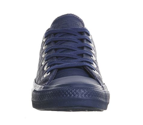 Converse Low Leather converse all low leather trainers in blue lyst
