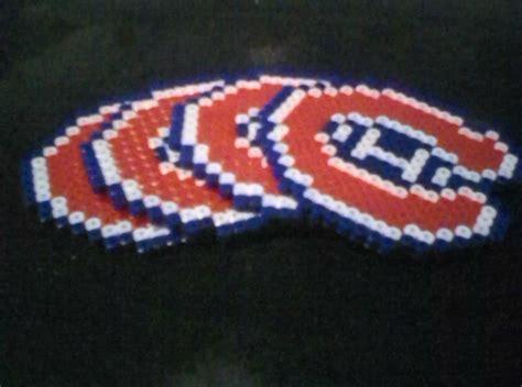 montreal canadiens perler bead coasters by kaiyani on