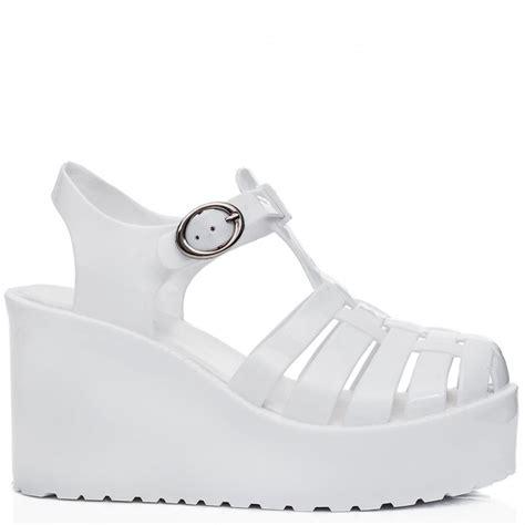 buy visor wedge heel flatform jelly platform sandal shoes