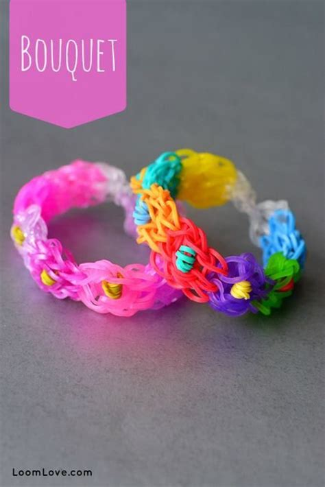 youtube tutorial loom bands bouquet bracelet designed and loomed by loom love on the
