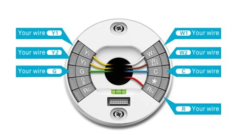 nest thermostat wiring diagram image gallery nest learning thermostat installation
