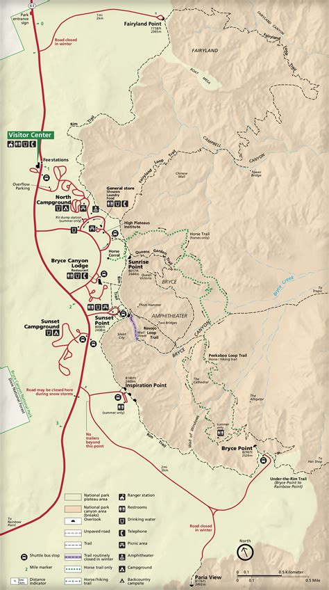 bryce national park map file nps bryce national park detail map jpg