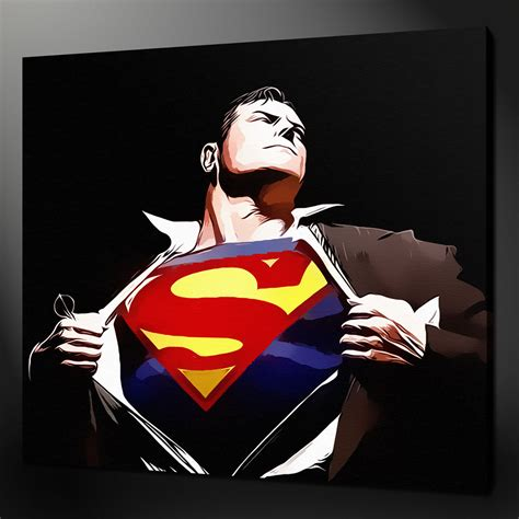 superman painting free canvas print pictures high quality handmade free next