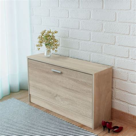 Oak Storage Bench Vidaxl Co Uk Vidaxl Shoe Storage Bench Oak 80x24x45 Cm