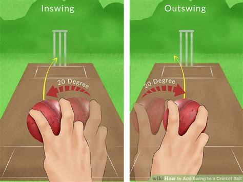 how to swing the ball in cricket 3 ways to add swing to a cricket ball wikihow