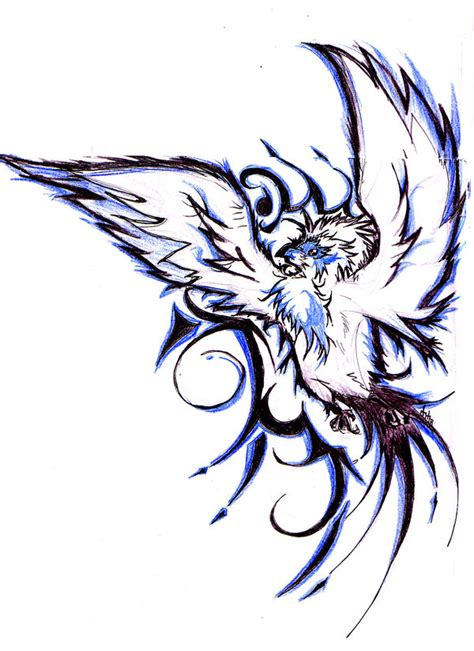 blue bird tattoo design by braverazor on deviantart