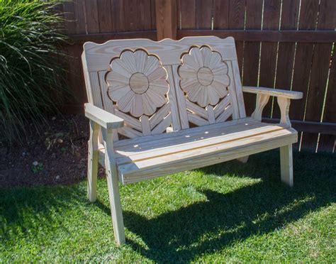 treated pine sunflower bench