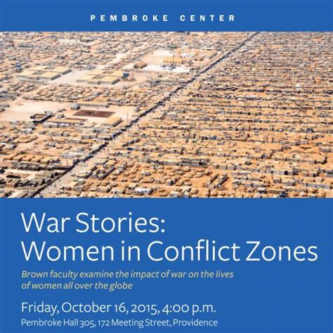 themes in war stories family weekend event war stories women in conflict