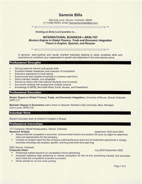 graduate student resume exle strength the personal and student