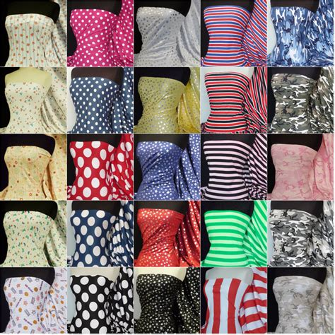 patterned jersey fabric 100 cotton printed cotton interlock jersey fabric