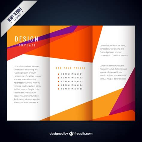 free template brochure colorful modern brochure template vector free