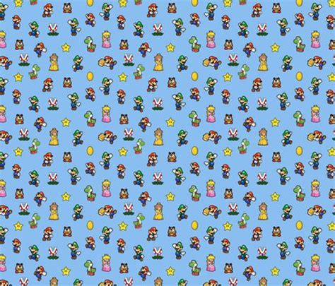 Bross Handmade 3 mario fabric by id designs on spoonflower