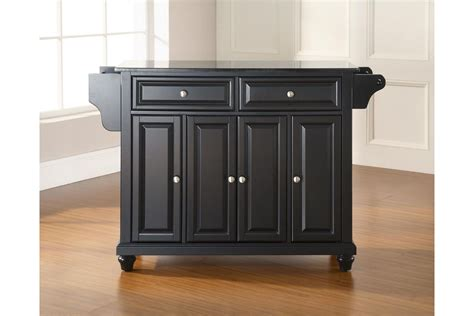 black granite kitchen island cambridge solid black granite top kitchen island in black