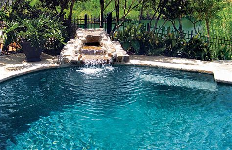 waterfalls for pools inground rock waterfalls blue haven custom swimming pool and spa