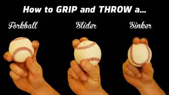 how to throw a new years 3 pitching grips how to throw the sinker slider and