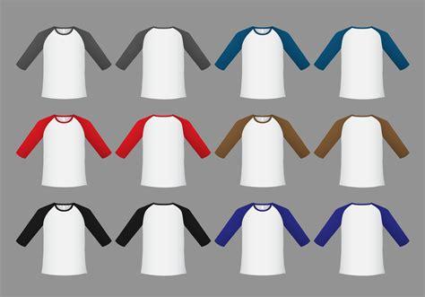 Kaos Raglan Gq Logo 1 raglan t shirt template vector free vector