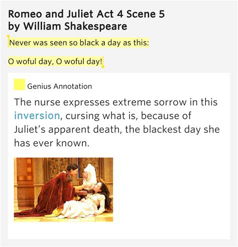 themes in romeo and juliet act 4 scene 5 never was seen so black a day as romeo and juliet act