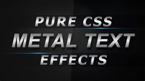 typography tutorial css pure css metal text effects css creative 3d text