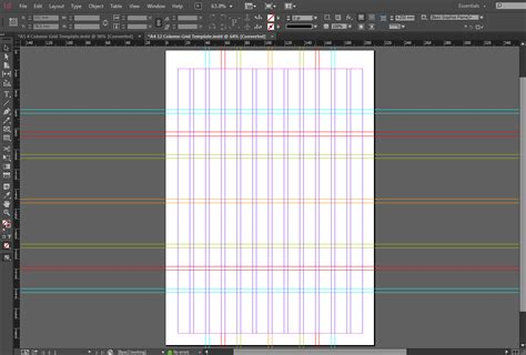 in design layout grid indesign a4 12 column grid template the grid system