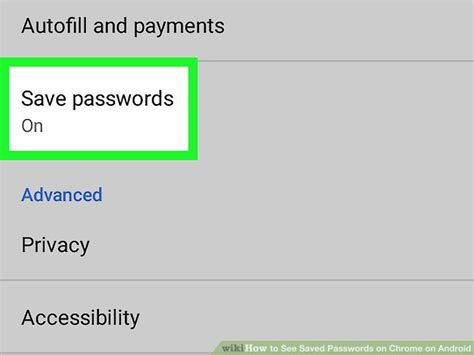 saved passwords android how to see saved passwords on chrome on android 8 steps