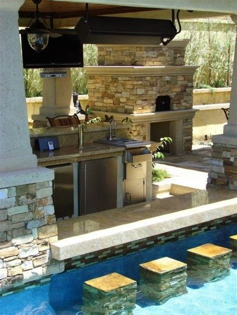 pool and outdoor kitchen designs 95 cool outdoor kitchen designs digsdigs