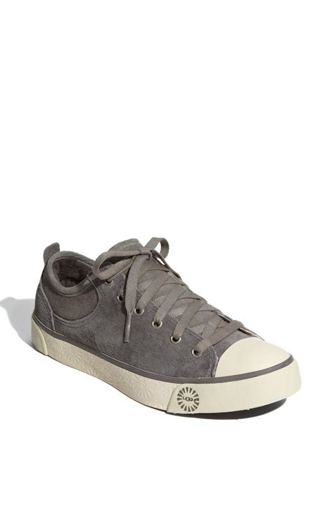 ugg sneakers evera ugg evera suede sneaker in gray pewter lyst