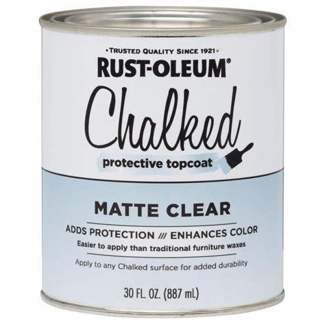 chalk paint top coat rust oleum 30 oz ultra matte interior chalked topcoat