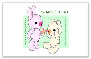 banners flash teddy bear love template free download