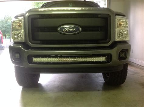 F250 Light Bar by Bumper Brackets For Curved 40 Quot Led Light Bars 11 16 Ford