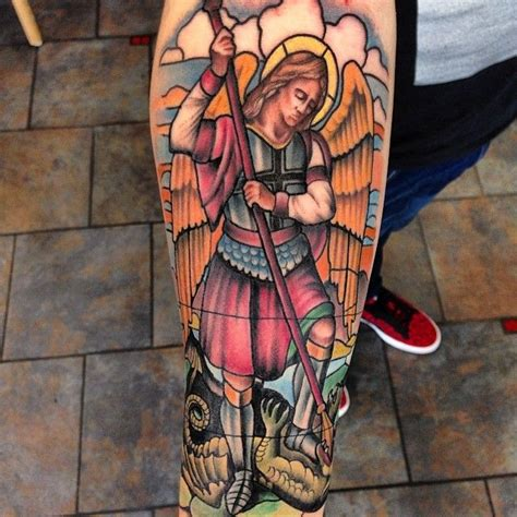 st michael tattoo meaning 20 protecting michael tattoos history meanings